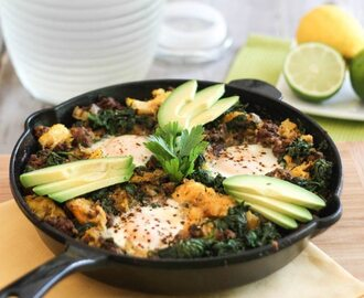 Ground Beef & Butternut Squash Breakfast Skillet