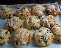 last taste of summer – loaded lemon & blueberry scones