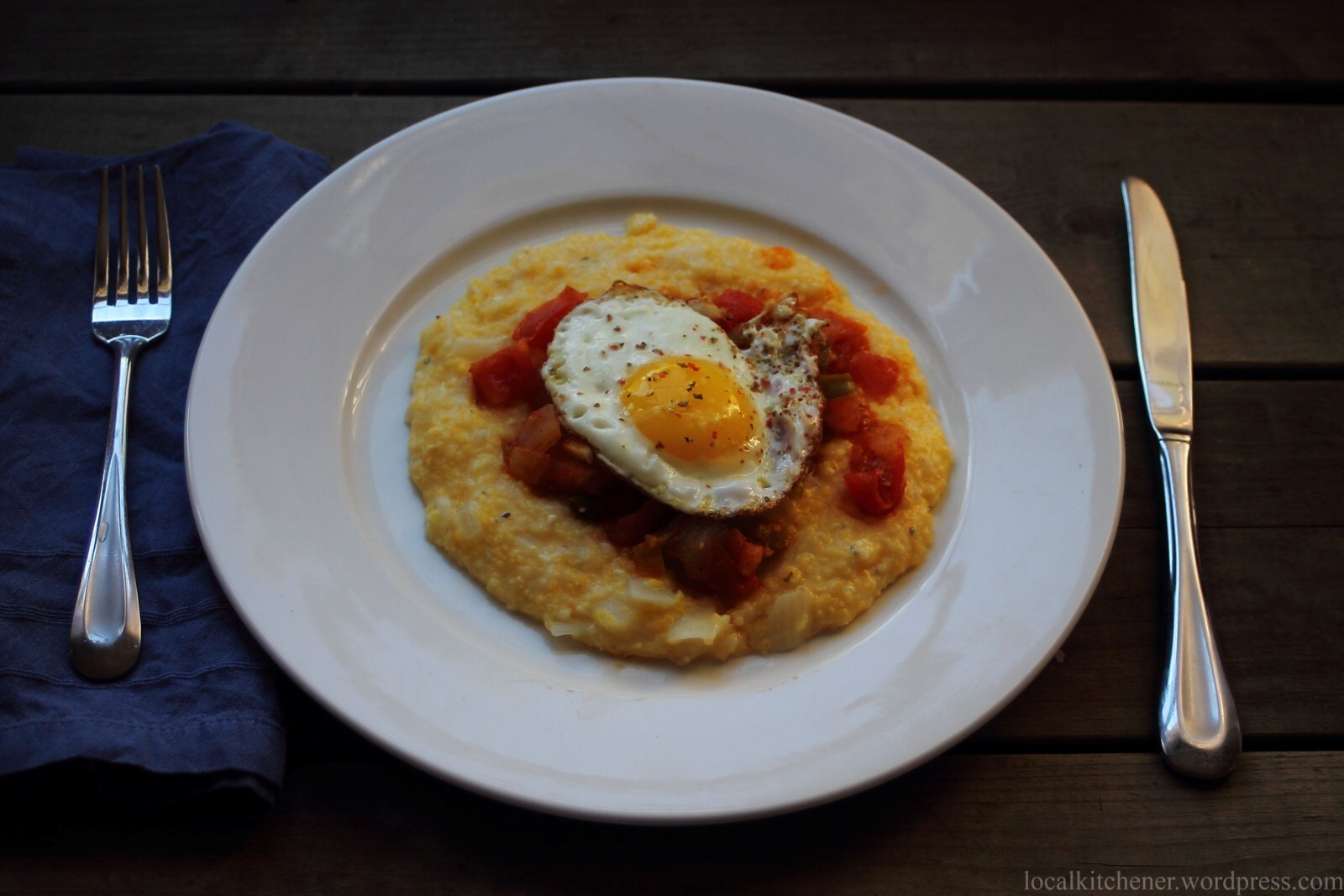 Polenta with Sofrito and Fried Eggs