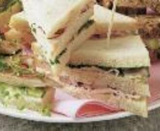 High tea  Luxe sandwiches