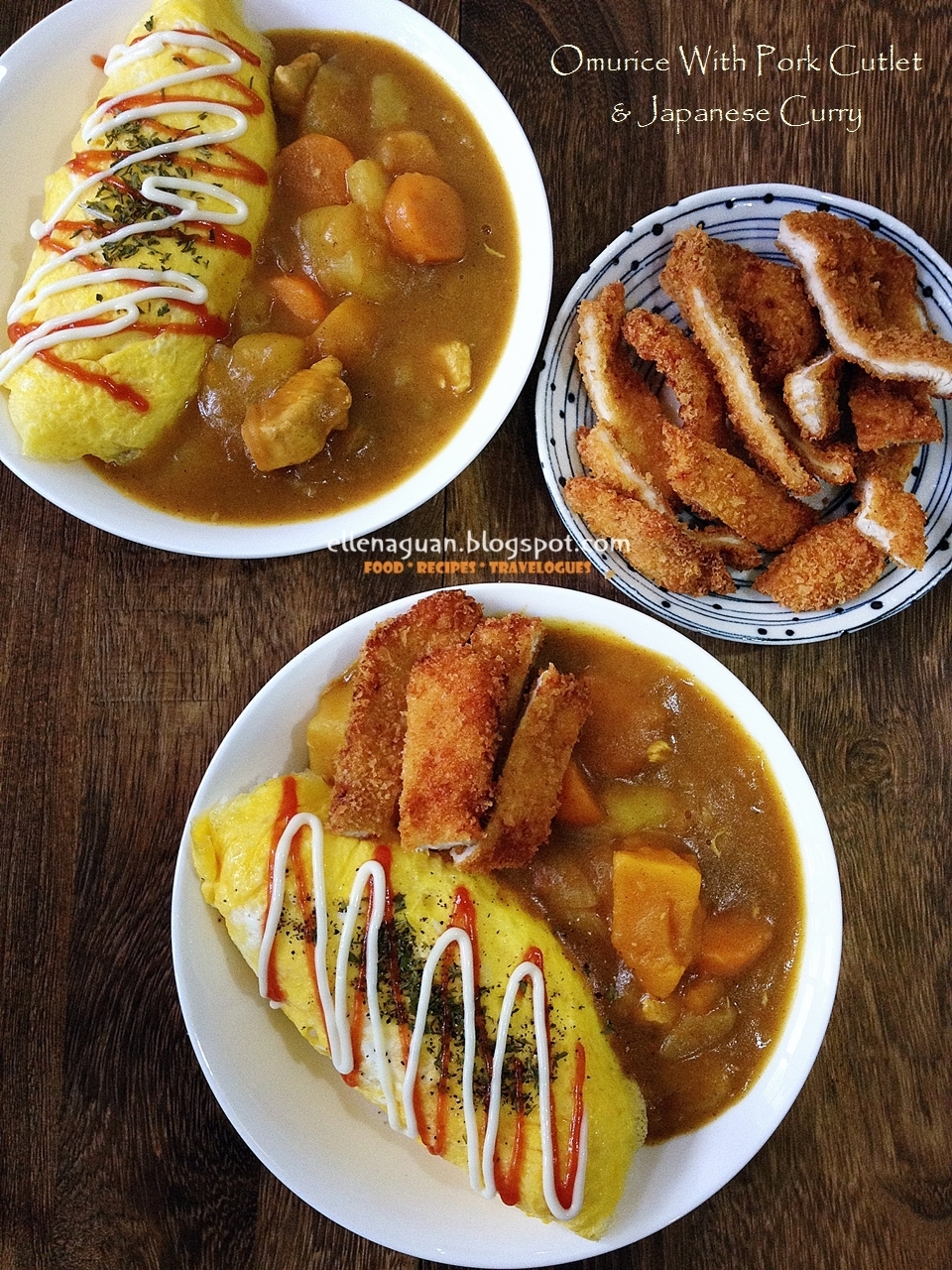 Omurice and Pork Cutlet With Japanese Curry