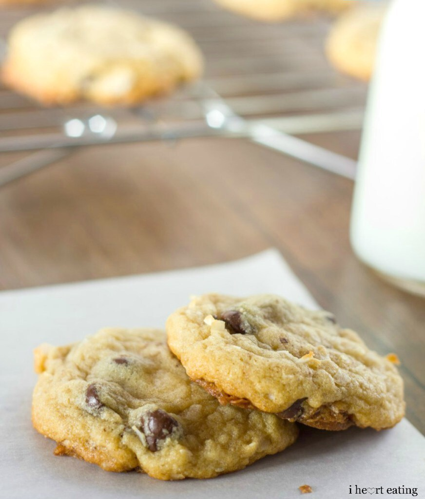 Almond Joy {Coconut-Almond-Chocolate Chip} Cookies