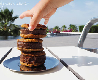 {Clean Eating} Chocolate Peanut Butter Cookie Wich – Gesundes Eiscreme Sandwich