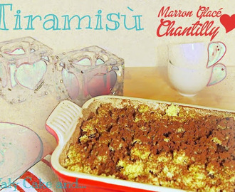Tiramisù ai marron glacé e crema chantilly
