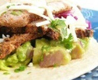 Steak Tacos with Avocado & Cucumber Salsa