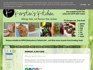 Kersten's Kitchen: Allergy Free, Not Flavour Free