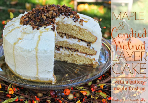A Maple and Candied Walnut Layer Cake
