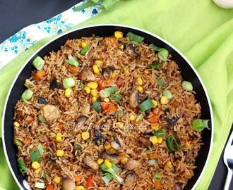 Garlicky Mushroom fried rice
