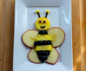 Fun Snack Creation: Bee Fruit Plate