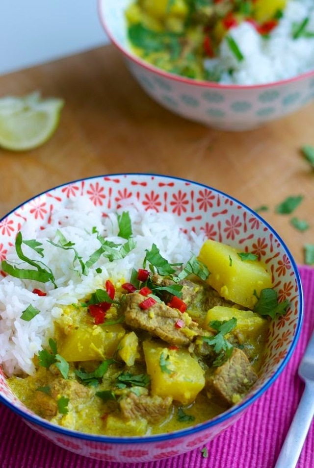 Beef and potato massaman style curry
