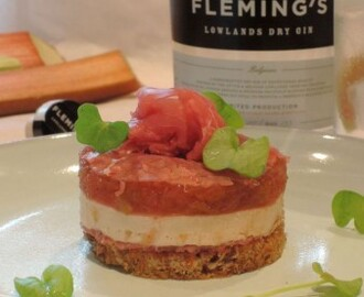 Toast met foie gras, rabarber en filet d'Anvers- Fleming's Gin