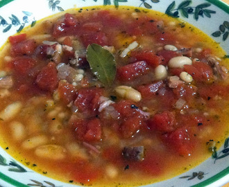Slightly Smoky Ham and Bean Soup