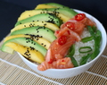 Salmon, Mango & Avocado Rice Bowl