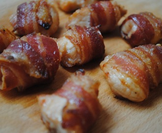 Sweet chicken and bacon bites recipe