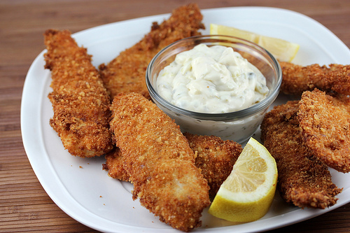 Crispy Fish Sticks with Tartar Sauce Recipe