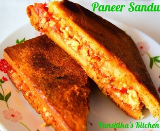 Paneer Sandwich | Cottage Cheese Stuffed Sandwich