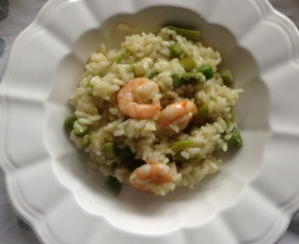 Prawns & asparagus risotto – Lemons and Olives