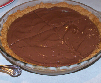 Homemade Instant Chocolate Cream Pie, #glutenfree, #low glycemic