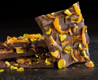 Healthy indulgences: Chocolate Orange Pistachio Bark