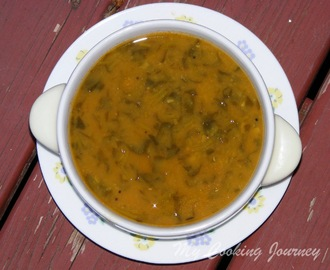 Menthiya Keerai Sambhar/ Methi Sambhar /Fenugreek leaves Lentil stew