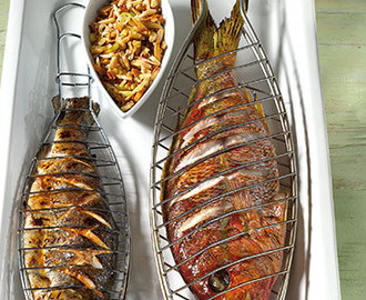 Dorade of Red Snapper van de bbq
