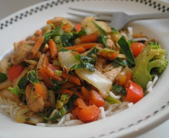 Easy Chinese chicken stir-fry