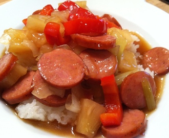 Sweet and Sour Smoked Sausage