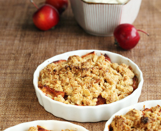 Apple crumble, the perfect autumn dessert