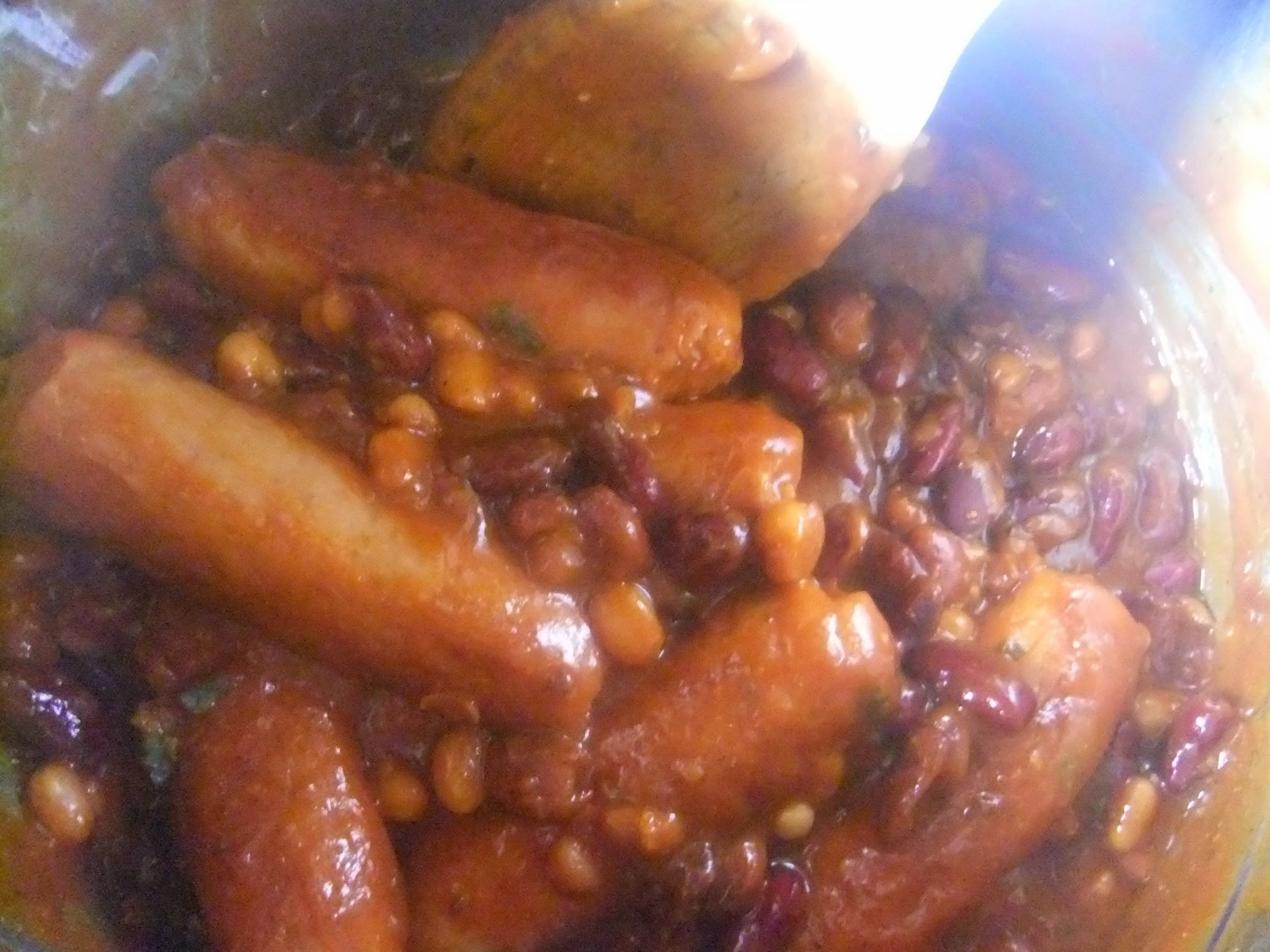 Easy Spicy Sausage and Bean casserole