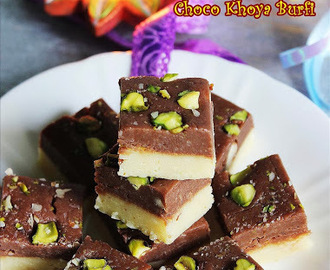 Chocolate burfi recipe using khoya (easy diwali sweets recipes)