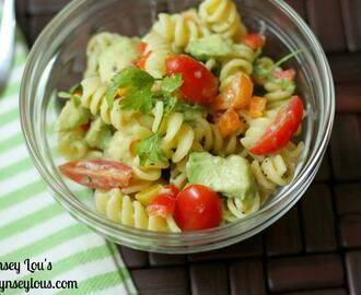 Pasta Salad with Creamy Lemon Balsamic Dressing