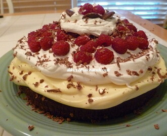 For the Holiday weekend Make this Easy Chocolate/Raspberry Cream Cake!