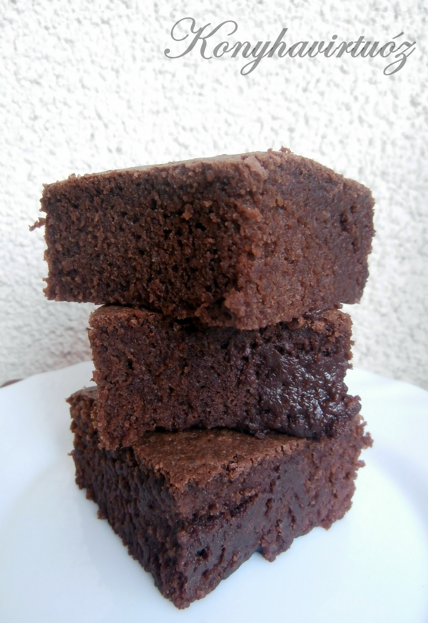 Barna sörös brownie