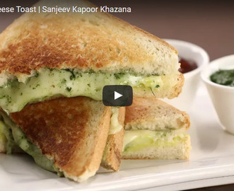 Masala Cheese Toast Recipe Video