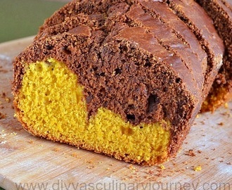Mango Chocolate Marble Cake- Egg less and Butter less