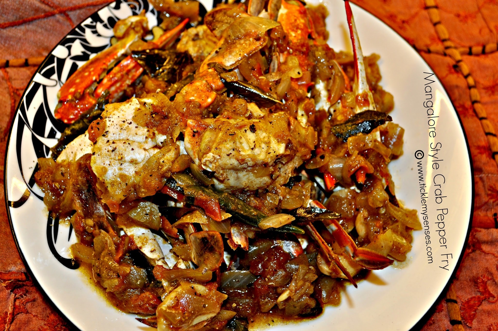 Mangalore Style Crab Pepper Fry.