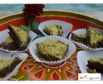 Simply Delightful Diwali Pleasures: Jaggery Puffed-Rice Crispy Treats and Dark Chocolate-Pistachio Indian Fudge Burfi