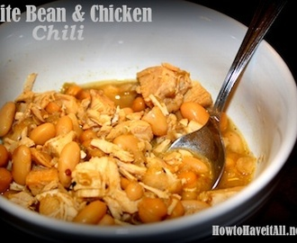 White Bean & Chicken Chili Recipe