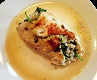 Chicken Rollintini with Pesto, Baby Spinach & Brown Rice