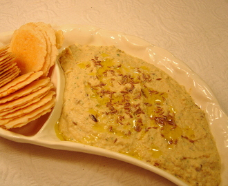 White Bean and Roasted Eggplant Hummus – Baba Ghanoush