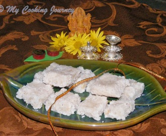 Thengai Burfi / Coconut Burfi / Coconut Fudge