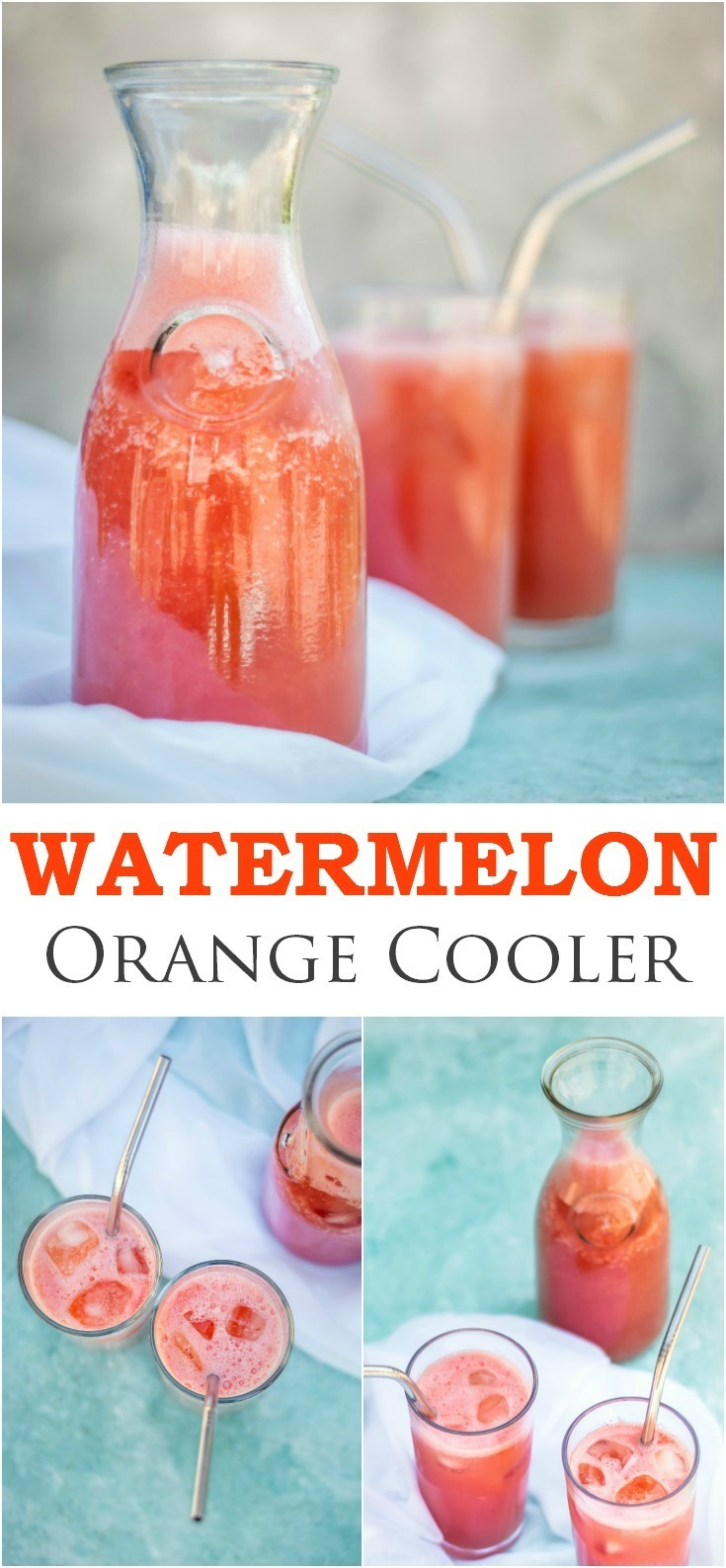 Watermelon and Orange Cooler