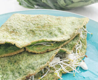 Groene spinazie pancakes