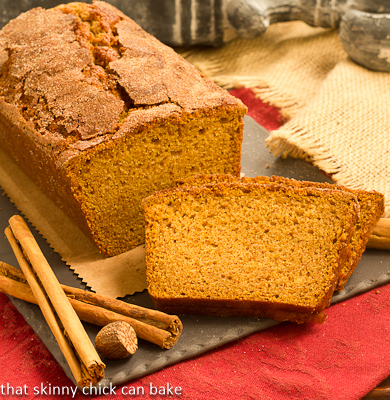 Cinnamon Crusted Pumpkin Bread #TwelveLoaves
