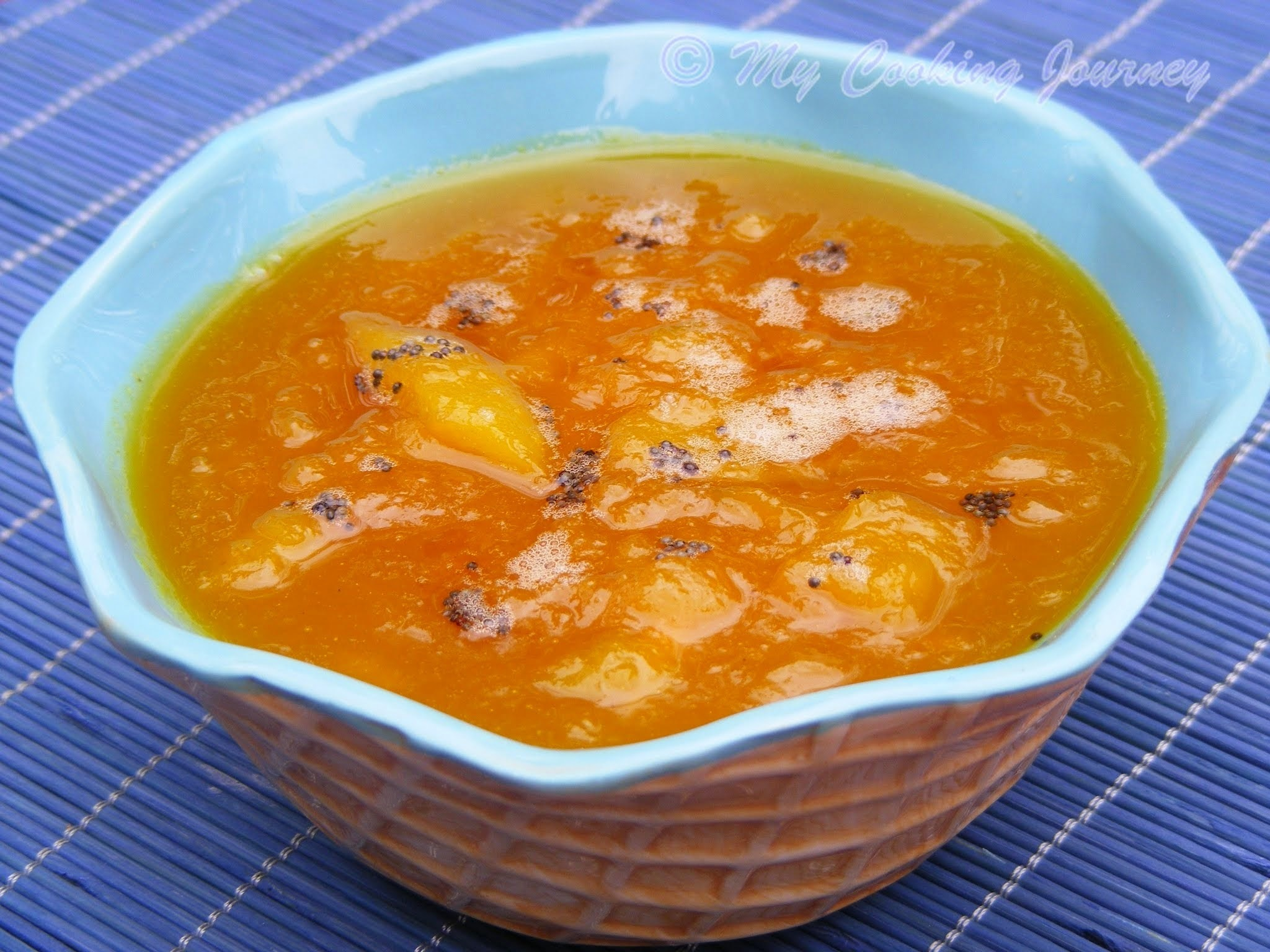 Mango Pachadi/Sweet Mango Chutney (made with raw mangoes) BM # 29