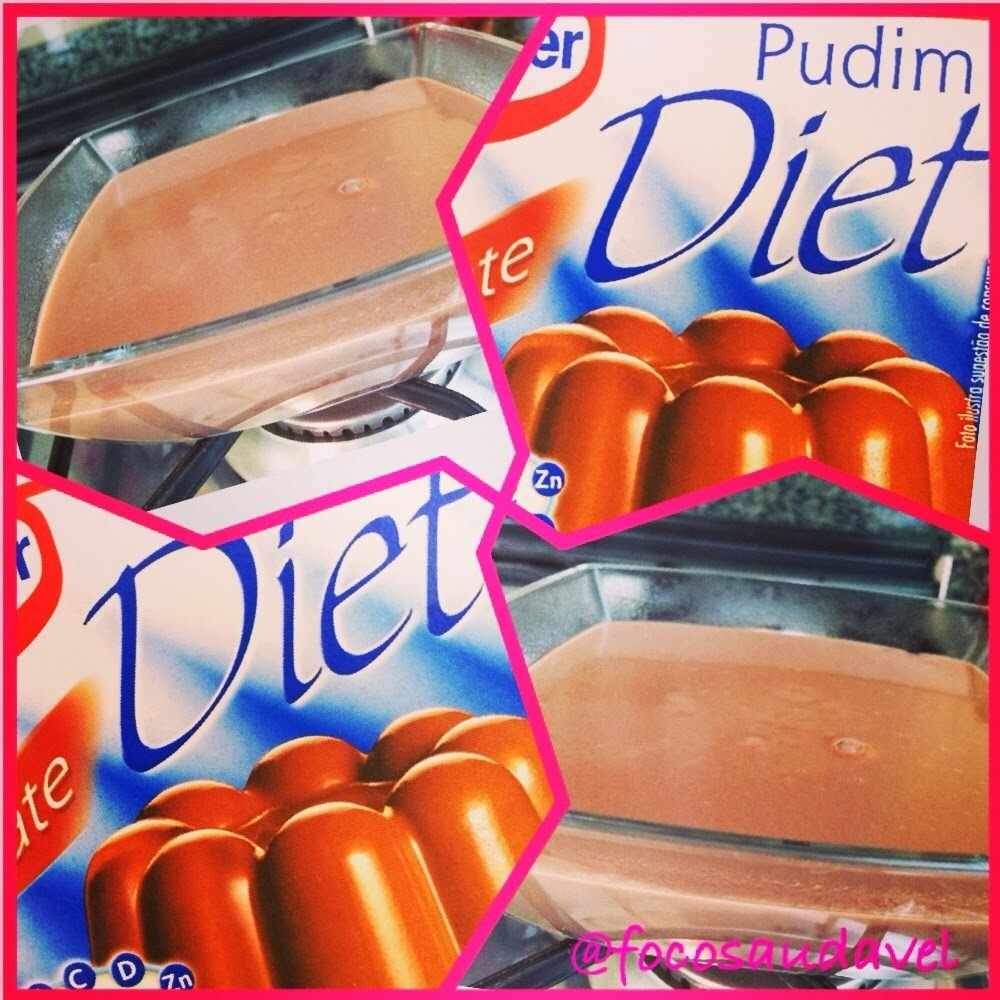 Pudim de chocolate diet!