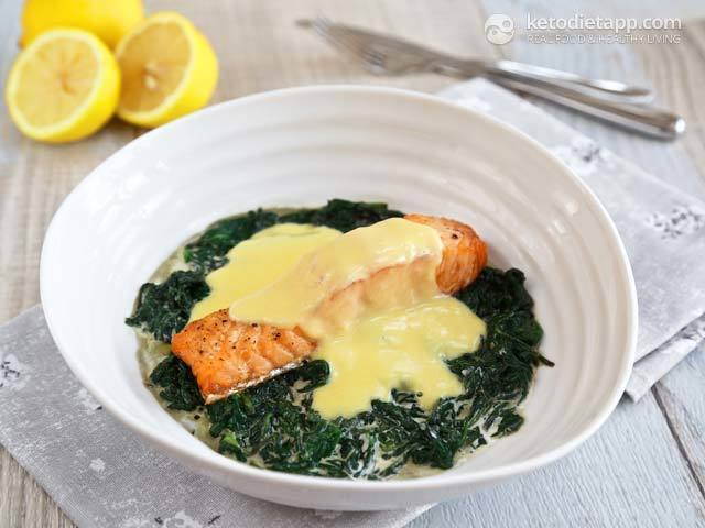 Salmon with Creamy Spinach & Hollandaise Sauce