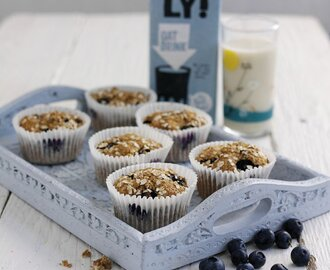 Oatly Banana and Blueberry Muffins