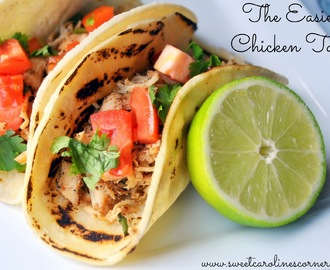 The Easiest Chicken Tacos (Tacos de Frango Super Fácil)