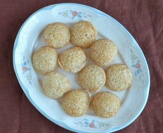 Rava Paniyaram (Sweet)  - Virtual Birthday Treat for Shama
